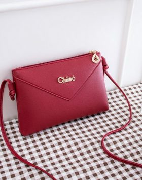 Tas Simple Wanita Import Warna Merah BI712