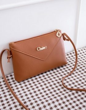 Tas Simple Wanita Import Warna Coklat BI713