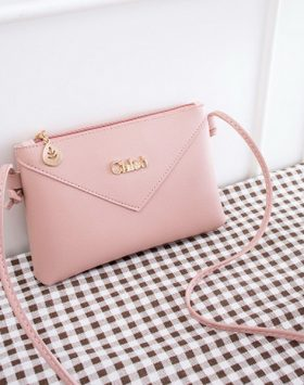 Tas Simple Wanita Import Warna Pink BI715