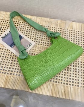 Tas Croco Model Tali Biasa Warna Hijau Asli Import BI565