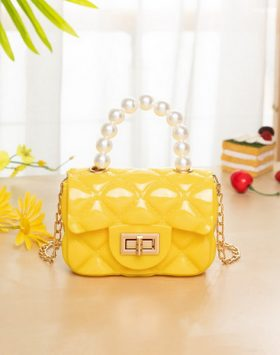 Terbaru Tas Model Jelly Mutiara Mini Warna Kuning BI695