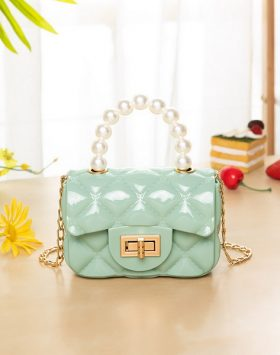 Terbaru Tas Model Jelly Mutiara Mini Warna Tosca BI698
